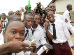 My 12th grade students unwind on their lunch break during WAEC day three of five. I took these pictures on my way out of town to deliver their applications to Monrovia. Plenty prayers in the air that day.