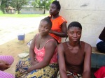 Joanna, Gloria and Precious take a break from cooking to restsmall.