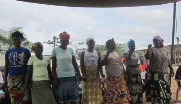 The women sing at the opening program several weeks ago.