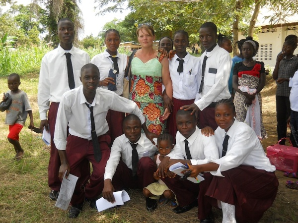 Bluffing with some of my senior students right after they finished their math WAEC.